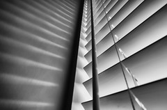 'Shutterbug' (Canadapt) Tags: shadow abstract window wall vancouver pattern geometry shutters blinds canadapt