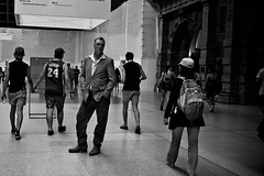 Strike a Pose (Vincent Albanese) Tags: street people bw streets fuji candid sydney sep lightroom 23mm silverefexpro x100s fujifilmx100s