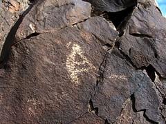 Hidden Mountain Kokopelli (glyphwalker) Tags: newmexico rockart petroglyphs