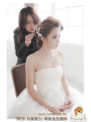 韓式婚紗造型-清甜淡雅 | 造型設計: 林珍卉 貝兒 新秘