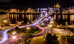 Night rush at Budapest (Faalma) Tags: longexposure bridge light red colour yellow night hungary dune budapest duna lnchd chainbridge catchycolorsyellow catchycolorsred catchycolorspurple catchycolorsorange catchycolorswhite d7000 bestcapturesaoi infinitexposure