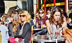 2014-03-29  Caf Rive droite - Rue Saint-Denis - Rue Berger (P.K. - Paris) Tags: street people mars paris caf french march terrace outdoor pavement candid drinking terrasse sidewalk openair 2014 terrazza