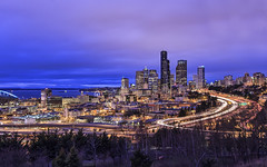 Seattle from Beacon Hill (Sarmu) Tags: seattle city light sunset wallpaper urban usa building skyline architecture night america skyscraper port lights bay us washington twilight highresolution downtown cityscape view skyscrapers nightshot unitedstates harbour dusk widescreen 1600 highdefinition resolution northamerica wa 1200 cbd hd bluehour wallpapers 1920 vantage vantagepoint ws 1080 2014 1050 720p 1080p urbanity 1680 720 digitalblending 2560 columbiacenter sarmu