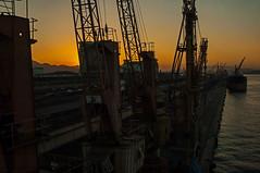 Rio de Janeiro port (tramsteer) Tags: brazil water brasil riodejaneiro port cranes topaz tramsteer topazdenoise