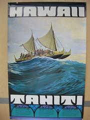 Polynesian Voyaging Society poster (hawaiiancanoes) Tags: outrigger hokulea tikopia polynesianvoyagingsociety tipairua tamamoana hikianalia scalemodelcanoes