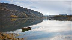 Arctic Ocean landscape (Joni Aarnio) Tags: bridge autumn sea sky sunlight mountain reflection beach water norway landscape boat nikon 7100 sigma arctic alta 1020mm lightshadow joni norja aarnio