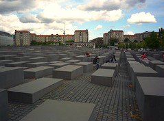 Holocaust Memorial (Miki216) Tags: city trip summer berlin clouds germany deutschland holocaust memorial place capital panasonic rest denkmal 2011 dmclz8