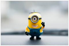 Stuart! (Free 2 Be) Tags: silly smile toy stuart minion 115photosin2015
