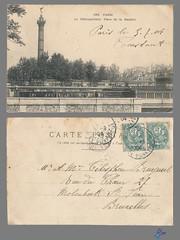 PARIS - Le Métropolitain Place de la Bastille (bDom [+ 3 Mio views - + 40K images/photos]) Tags: paris 1900 oldpostcard cartepostale bdom