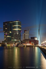 44 floors | Rijnhaven | Rotterdam (zzapback) Tags: blue holland netherlands dutch 30 architecture night skyscraper photography evening rotterdam nikon europe long exposure blauw fotografie nacht nederland enjoy hour avond koolhaas seconds architectuur zuidholland uur derotterdam hoogbouw 44floors d700 zzapback robdevoogd