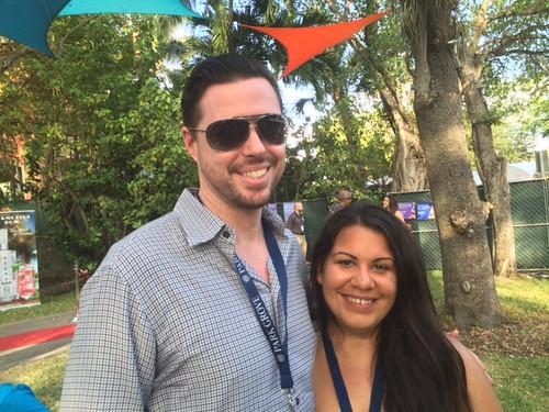Sean McCormack of McCormick Place art studios with Adriana Oliva Coconut Grove arts Festiva