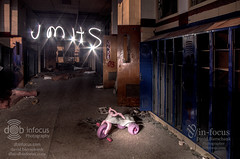JMHS in lights (The Developing Tank) Tags: city school light lightpainting abandoned oklahoma night lockers john painting high paint with destruction demolition marshall hallway highschool paintingwithlight okc johnmarshall paintwithlight pentaxart