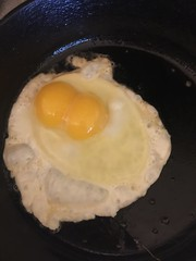 Double Yolk - Amazing (sheriffdan10) Tags: food home cooking egg eggs fried yolk skillet frying ironskillet