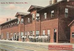Marceline's First Santa Fe Station 1900