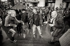 Dancing on Piccadilly Circus, Valentine's Day 15 (Marc Gascoigne) Tags: street city people urban blackandwhite london blackwhite dancing candid streetphotography piccadillycircus ldn reclaimlove
