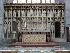 Parish Church of St Laurence, Ludlow (pefkosmad) Tags: uk england church worship shropshire indoor ludlow altar holy frontal chancel anglican stlaurence hallowedground churchofengland parishchurch reredos englandsthousandbestchurches