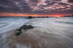 'A Coastal Return' - Porth Tyn Tywyn, Anglesey (Kristofer Williams) Tags: sunset sea cloud seascape beach wet water wales coast rocks waves outdoor coastal cloudscape anglesey rhosneigr walescoastpath porthtyntywyn
