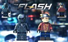 "LEGO CW : Zoom & ""Jay Garrick"" (MGF Customs/Reviews) Tags: lego cw the flash barry allen zoom hunter zolomon grant gustin teddy sears custom figure minifigure"