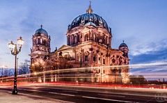 Berlin Dom (Boodi Kadi Gallery) Tags: red building night slow traffic cathedral dom chruch most photographs shutter viewed