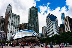 (John Goulding) Tags: blue chicago green cloudgate