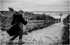 The Apprentice , 2 . (wayman2011) Tags: uk people bw beach mono coast seaside northumberland alnmouth canon5d lightroom phographers wayman2011