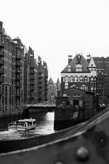 Speicherstadt Hamburg (johanneskphotography) Tags: white black monochrome architecture germany 50mm nikon 14 hamburg 1855 speicherstadt f4556 d5300