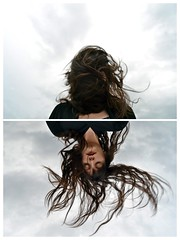 **She hears poems while the wind blows,through her hair wild words,repose . (Despina Titoni) Tags: light red portrait sky woman selfportrait color rooftop girl weather female clouds hair diptych long photographer natural wind may dramatic windy stormy down lips greece romantic emotional conceptual capture upside psychology nikond3100
