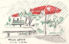 Oregon Garden Sketch (jimblodget) Tags: moleskine pen pencil garden sketch pleinair oregongarden