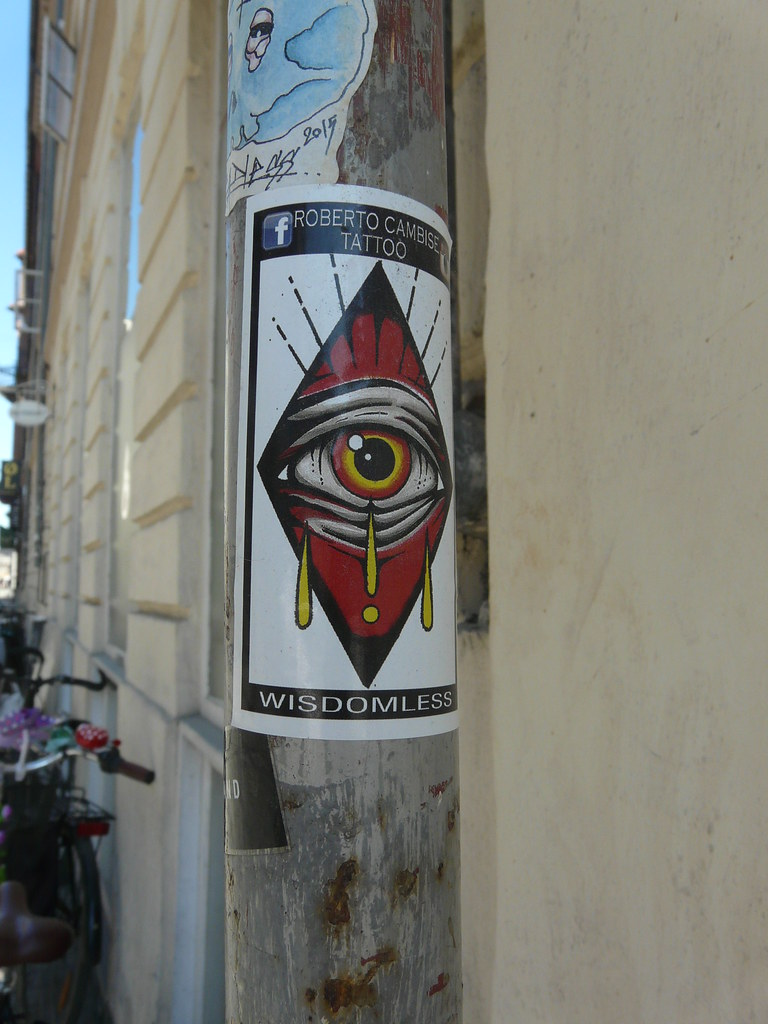 Wisdomless sysli tags streetart eye copenhagen denmark graffiti sticker