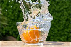 Splash. (ikerr) Tags: orange water lumix photo video bowl drop panasonic splash grab 4k tz100 dmctz100