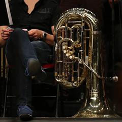La pause  la rptition (Marc_L21) Tags: music musique orchestre cuivre contrebasse