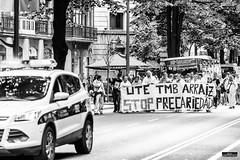 UTE TMB ARRAIZ STOP PRECARIEDAD, Bilbo, Bizkaia, Euskal Herria (Basque Country) 2016.05.24 (Tx.rekords.EH.) Tags: city urban blackandwhite blancoynegro demo protest bilbao manifestacion bizkaia euskalherria bilbo basquecountry baskenland ander monocromtico precariedad manifestazioa zuriaetabeltza andertxrekordsehtxrekordseh utetmbarraizstopprecariedad ondiegolopezharokokalenagusia stopprecariedad