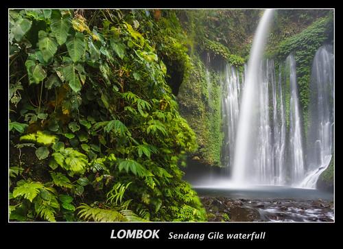 Sendang Gile waterfull  trekking in LOMBOK