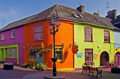 Burst of Irish joy (Paulina_77) Tags: ireland windows roof irish building window architecture buildings streetlight cork s kinsale shops