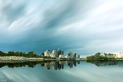 Time City (Leonardo Nguyen) Tags: park city sky cloud sun reflection building water landscape bay nikon humber