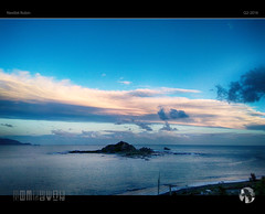 Sunset Blues (tomraven) Tags: ocean sunset sky sun beach water robin clouds island coast castal tomraven aravenimage nextbit q22016