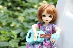 Tamsin's Tunes (AluminumDryad) Tags: toy outdoors doll ukulele guitar bjd resin fairyland ante balljointeddoll ltf tinybjd ourgeneration littlefee