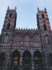 (meagzypeagzy) Tags: travel sunset beauty architecture montreal basilica visit notredame holy eglise townsquare