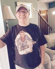 365 Year 7 Photo 183.  Western tee shirt week.  Bang Bang with John Wayne (litlesam1) Tags: square larry squareformat 365selfportraits iphoneography instagramapp uploaded:by=instagram