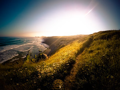 New paths (Luis Marina) Tags: sunrise cycling waves camino path dunes caminos amanecer shore mtb bici paths olas acantilado cantabria liencres gopro fatbike gopro4