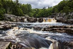 Blackwater Falls II, Garve (Alex_Wyatt_Photos) Tags: uk black colour water landscape scotland waterfall highlands long exposure falls garve rogie