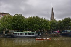 The Rowing Club (Nige H (Thanks for 5m views)) Tags: green nature bristol landscape boats harbour glassboat rowingboat
