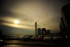 (Stephen Lam Hon Wai) Tags: sunset hk rooftop beautiful wonderful hongkong nikon harbour victoria nikkor carpark  kowloon tst tsimshatsui 18mm f35 oceanterminal oceancenter hksar   d700 internationalcommercecenter