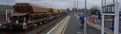 Antrim Station, 15th of March 2015 (nathanlawrence785) Tags: station sign train gm loco class 111 locomotive ni siding railways ballast nir pw antrim