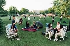 (Balakman) Tags: summer green grass moscow smoke sony group lawn activity piknik gorkypark