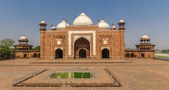 Agra, India (DitchTheMap) Tags: world travel summer sky panorama india white reflection building tower tourism monument water pool architecture temple asia flickr day place braces minaret indian islam traditional famous sightseeing culture taj mahal tajmahal agra landmark palace tourist panoramic structure symmetry mausoleum seven empire marble brace sights wonders emperor pradesh uttar 2016 uttarpradesh uttarpradesh2016