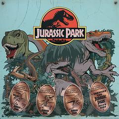 Jurassic Park Coin Display (arteephact) Tags: sign dinosaur universalstudios jurassicpark islandsofadventure 2016 sal1650 sonya77ii 1650mm28dt