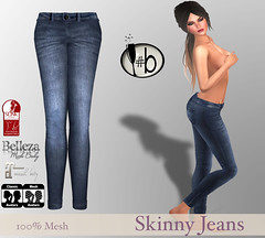 #b Jeans (candi1223) Tags: secondlife teal jeans mesh maitreya belleza slink fashion trendy chic affordable top silk linen summer fall winter spring dress sexy sweet simple
