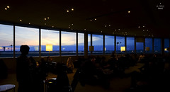 Sunset view from the lounge (A. Wee) Tags: toronto canada airport lounge mapleleaf yyz aircanada