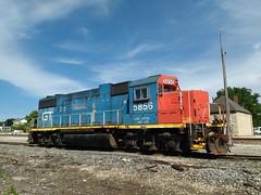 GTW5856WaukeshaWI6-12-16 (railohio) Tags: cn trains waukesha wisconsin motog gtw gp382 station 061216